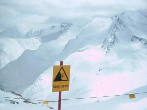 Austrian Ski Area Warning Sign