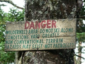Backcountry access sign