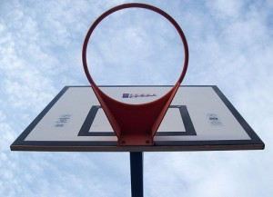 Empty basketball net