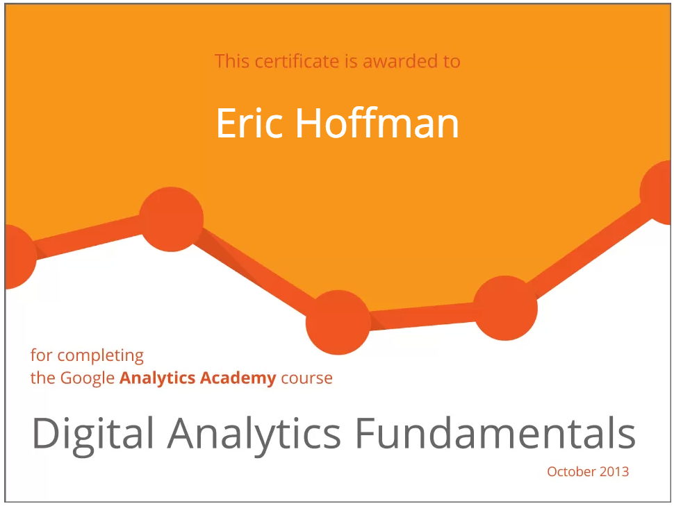 Digital Analytics Fundamentals